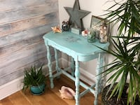 Console Table Beachy French Costal Hand Painted Sofa Entry Table  Wall Township