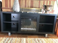 "We Furniture 58"" wood fireplace console smooth black Fresno, 93726"