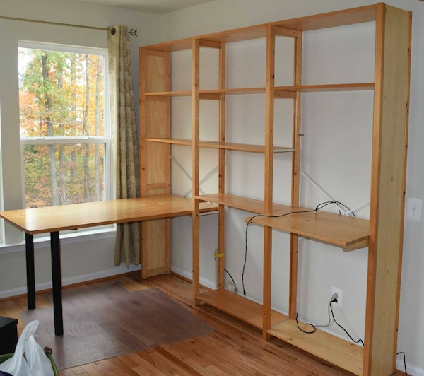 Used Container Store Skandia Shelving And Desk For Sale