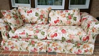 white and pink floral 3-seat sofa Alexandria, 22309