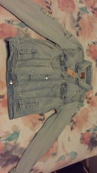 American Eagle Light Wash Denim Jacket