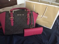 black and red Michael Kors leather tote bag El Paso, 79938