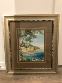 Waterfront picture with frame 33x44