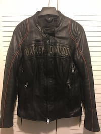 black leather zip-up jacket Woodbridge, 22191