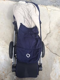 blue bugaboo stroller with with body muff Malden, 02148