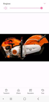 STIHL TS 420 Cut Off Concrete Machine/Saw