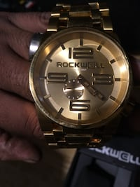 Rockwell men's gold on gold 50m watch 1953 mi