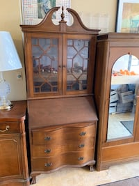 Gorgeous Federal Style Bowfront Ball & Claw Footed Secretary Desk