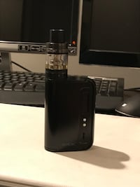 black Variable box mod. Smok. Bought for originally 120. Basically brand new. Comes charger for batteries