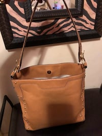 Brown leather MK bag