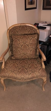 Custom upholstery chair with down feather back pillow Houston, 77071