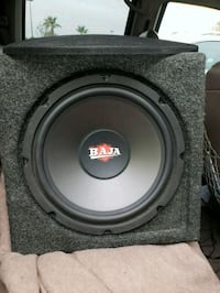 black and gray subwoofer speaker Bakersfield, 93312
