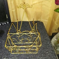 Brass plate holder and basket