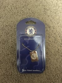 Silver plated Chelsea FC men's necklace
