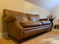 Colonial Brass Leather Sofa Wesley Chapel, 28110