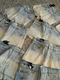 two blue and gray denim shorts Laval, H7G 3C7