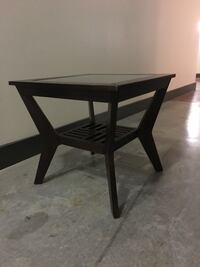 Matching coffee table and end tables (2) Espresso finish. Wood and glass. Houston, 77079
