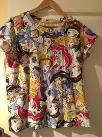 disney t-shirt col princesses impression équipage