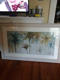 Beautiful Large watercolor picture and frame Jesup, 31546