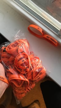 orange rubber sports band