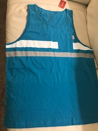 Blue and white tank top mens size XL London, N6H