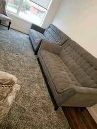Two gray fabric sofas 3 seats each Edmonton, T5L 0T1
