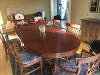 Antique Dining Table with 6 Chippendale-Style Chairs New Westminster, V3L