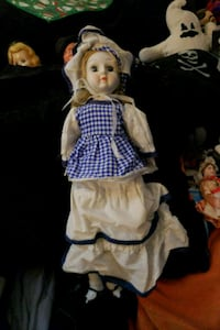 girl in white and blue dress doll Citrus Heights, 95610