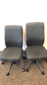 two black leather rolling chairs Naples, 34108