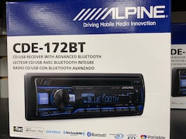 Brand new alpine car stereo WITH INSTALLATION