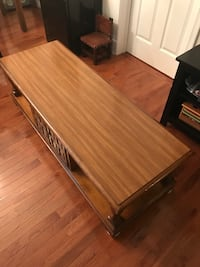 Brown wooden coffee table Springfield, 22152