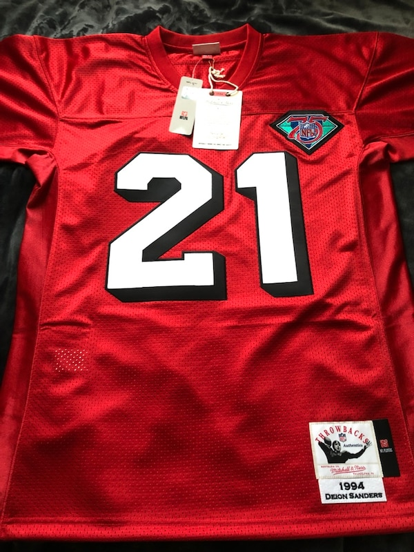 pretty nice d61e0 0f843 Authentic Deion Sanders Mitchell & Ness Niners Jersey size small (36)
