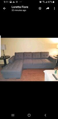 CHARCOAL GREY SECTIONAL LIKE NEW ASKING 500 8ft long chaise 56 inches. Toronto
