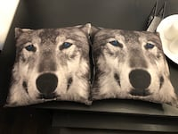 2 wolf pillows never used Toronto, M5G