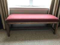 Brown wooden framed red padded bench Lorton, 22079