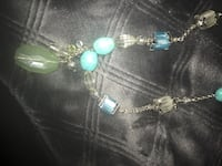 silver blue and green bead pendant necklace El Cajon, 92021