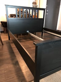 QUEEN IKEA BED FRAME - black and brown Los Angeles, 91604