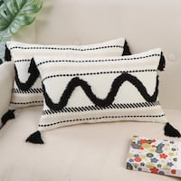 Tufted Tassel Throw Pillow Covers 华盛顿, 20011