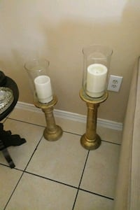 two brown wooden candle holders Orlando, 32808