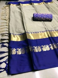 two blue and brown floral textiles Ludhiana, 141001