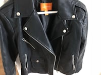 New leather jacket faux