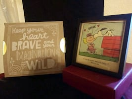 Peanuts NIB Snoopy and Sally Framed Art for Hallma