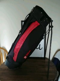 red and black Wilson golf bag