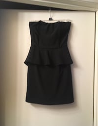 Women's size small black strapless cocktail dress Upland, 91784