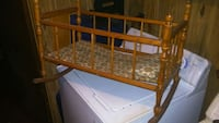 1950s antique Doll Baby crib Chesterfield, 23838