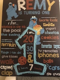 birthday board print & design
