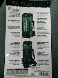 Shasta Backpack in new condition North Springfield, 22151