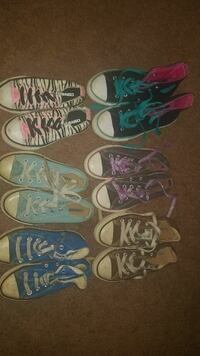 6 pairs of converse
