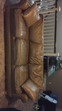 REAL LEATHER SOFA Fontana, 92336