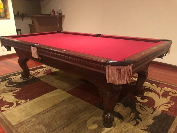 Null Içinde Ikinci El Satılık Solid Maple Pool Table Ping - El pool table